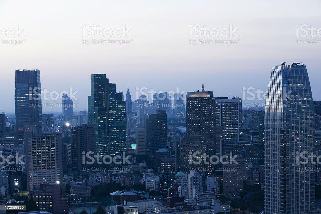 Tokyo at dawn stock photo
