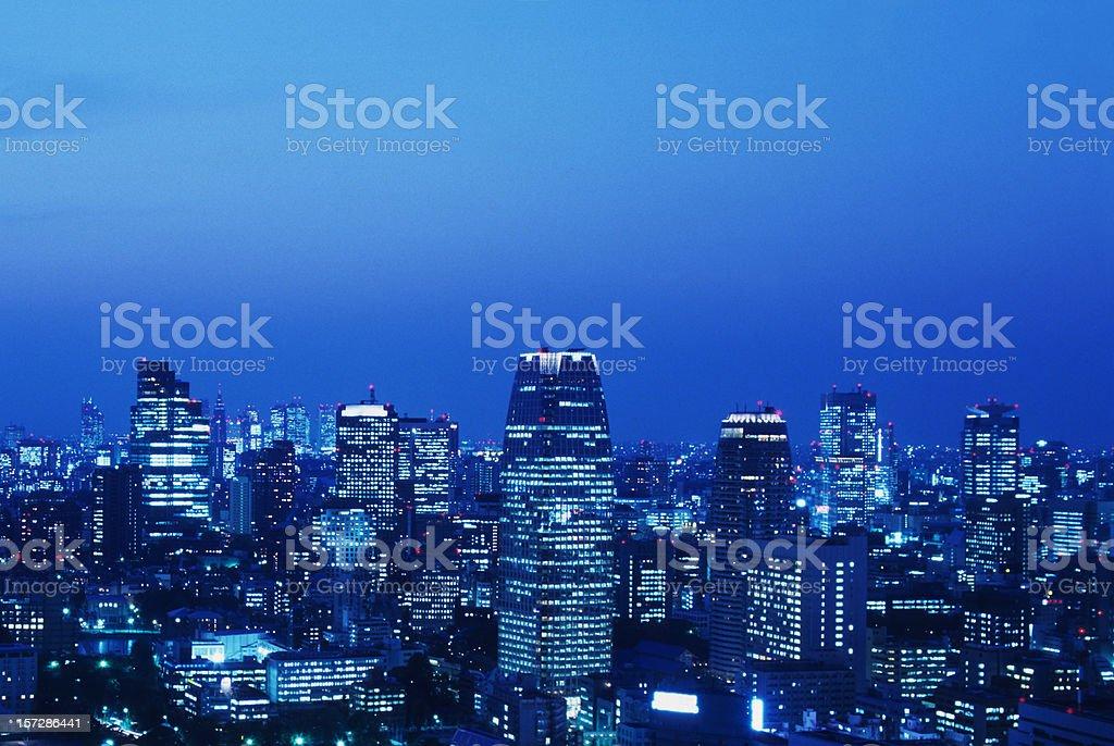 Tokyo at dusk stock photo