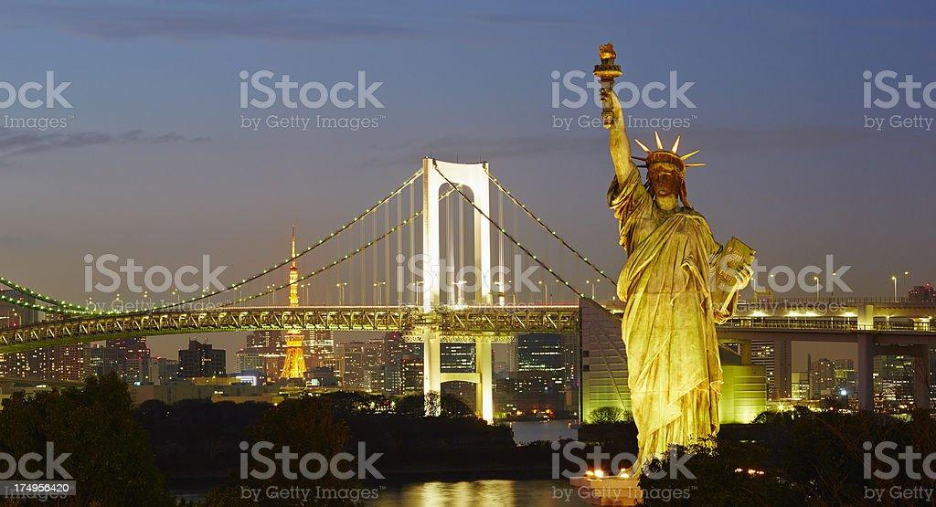 Tokyo Bay at dusk royalty-free stock photo
