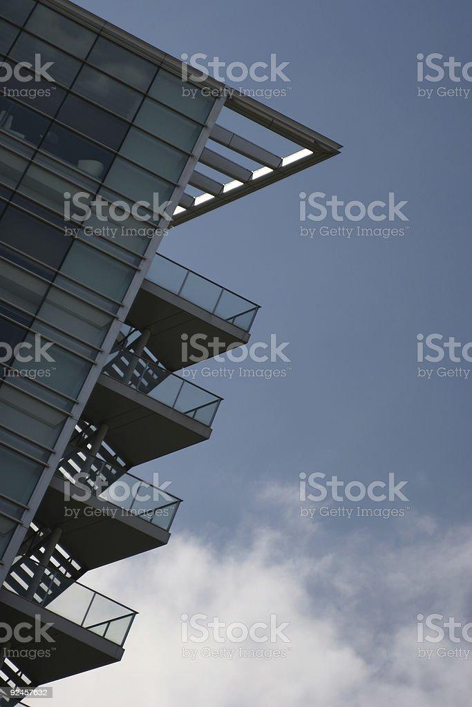 Tokyo building falling royalty-free stock photo