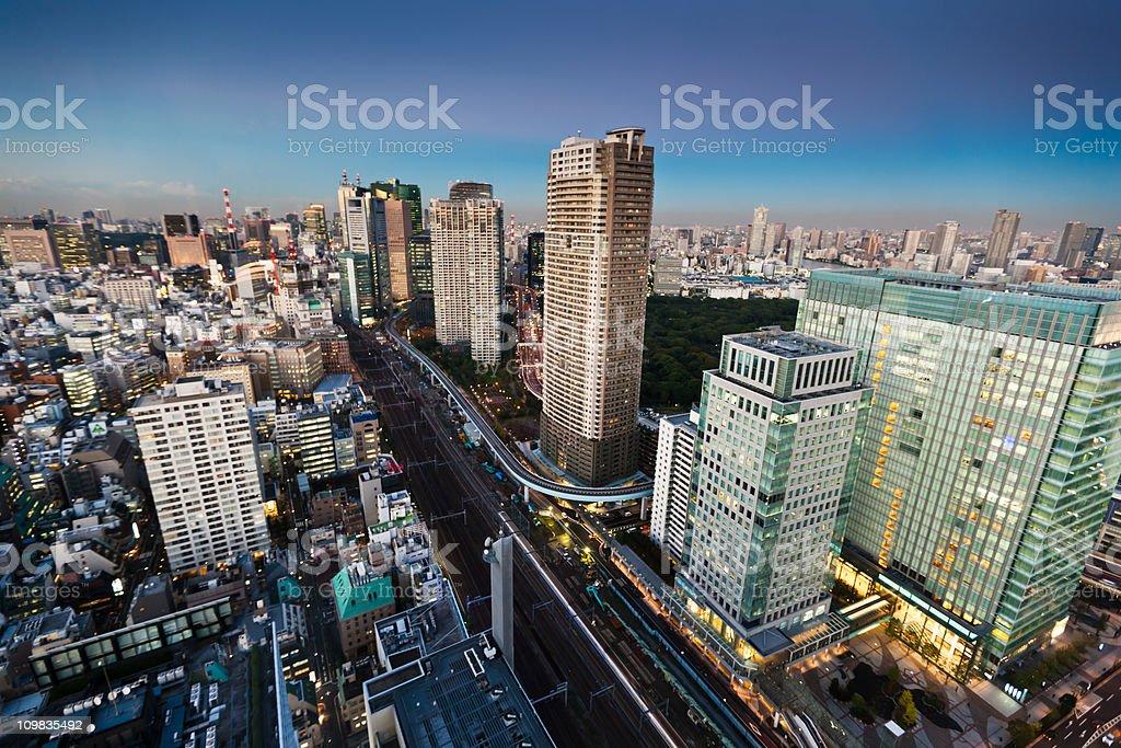 Tokyo City at Night stock photo