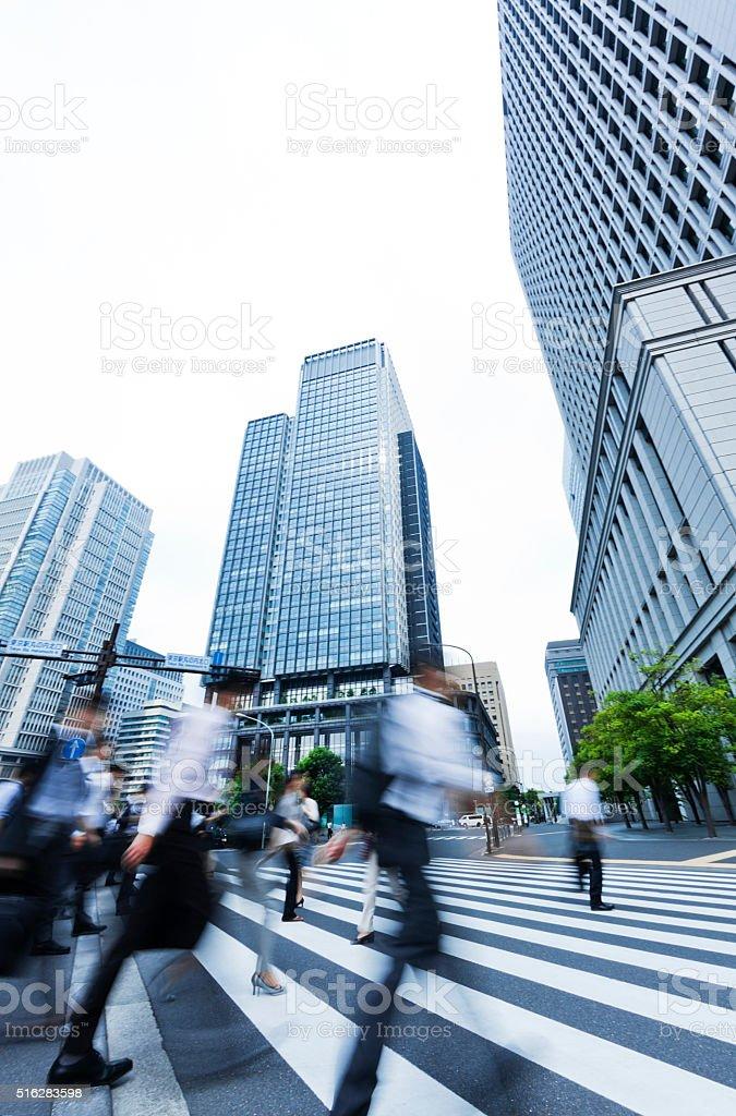 Tokyo City Commuters stock photo
