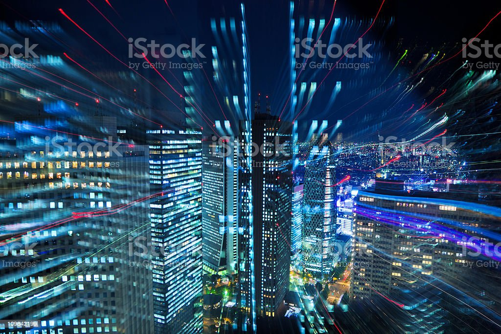 Tokyo City Lights stock photo