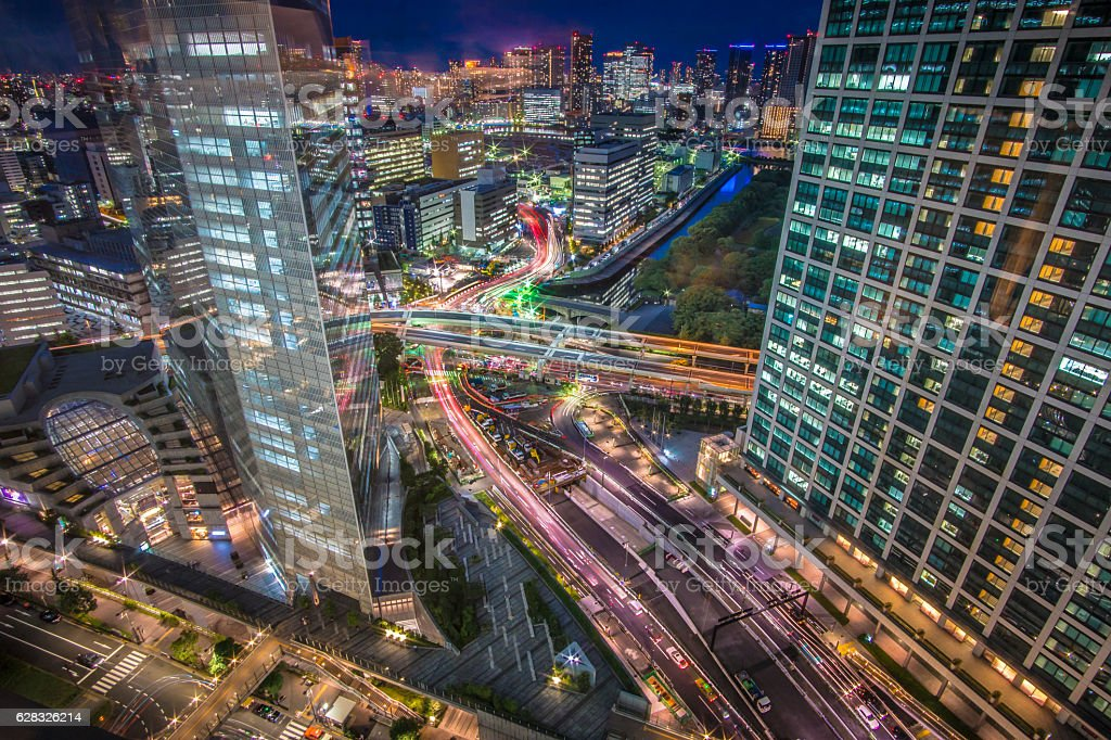 Tokyo City Night View stock photo