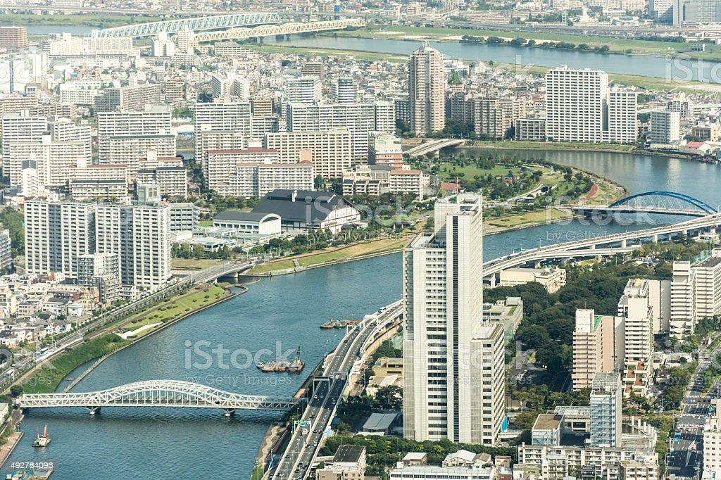Tokyo City View - Tsutsumidori Bridge stock photo