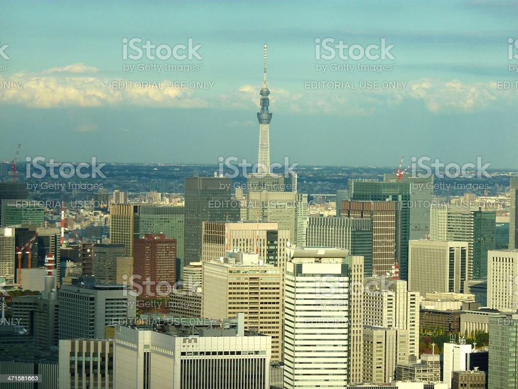 Tokyo cityscape and Sky Tree, Japan stock photo