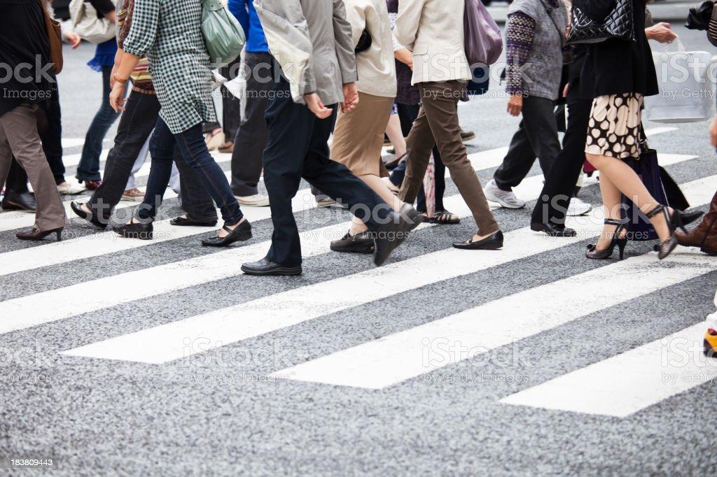 Tokyo Commuters stock photo