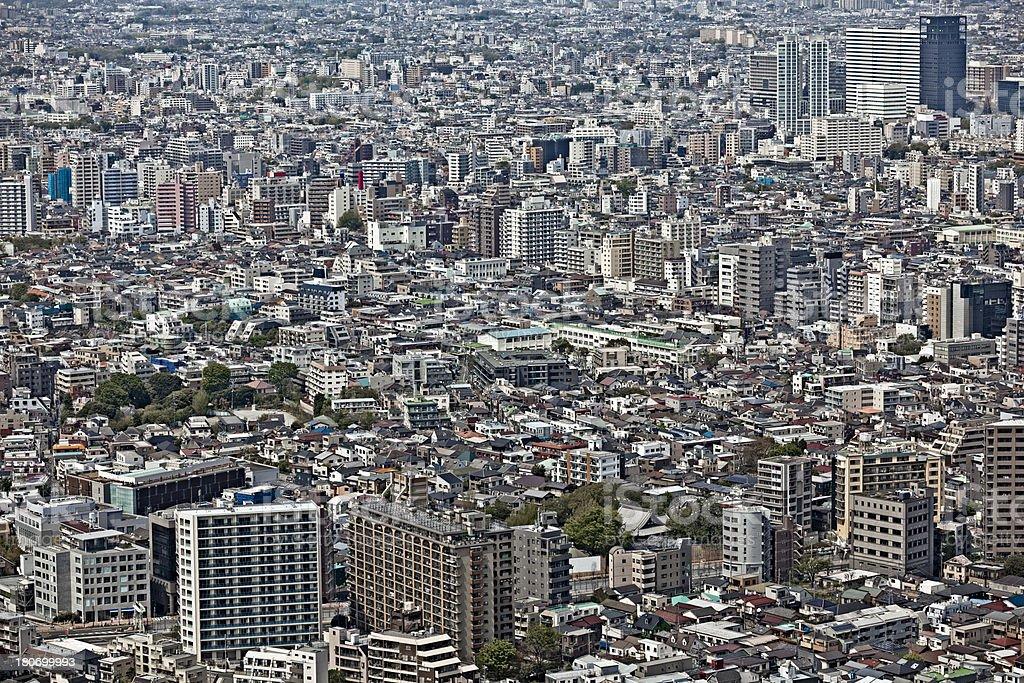 tokyo concrete jungle royalty-free stock photo