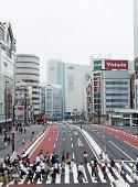 Tokyo Crosswalk near JR Shinjuku Station in the morning