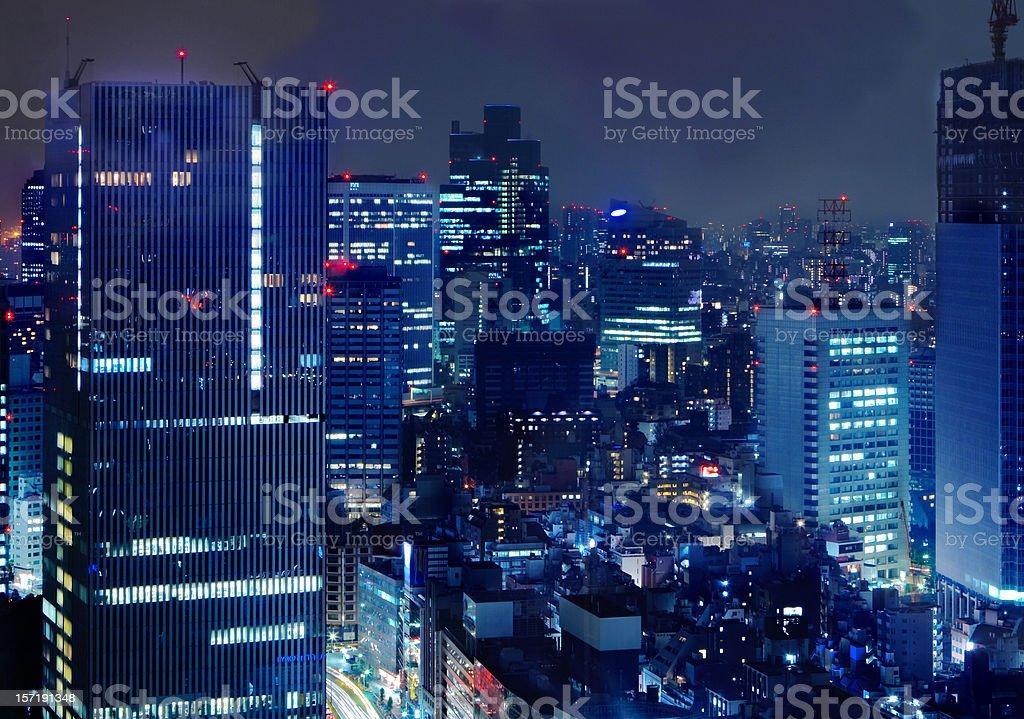 tokyo downtown royalty-free stock photo