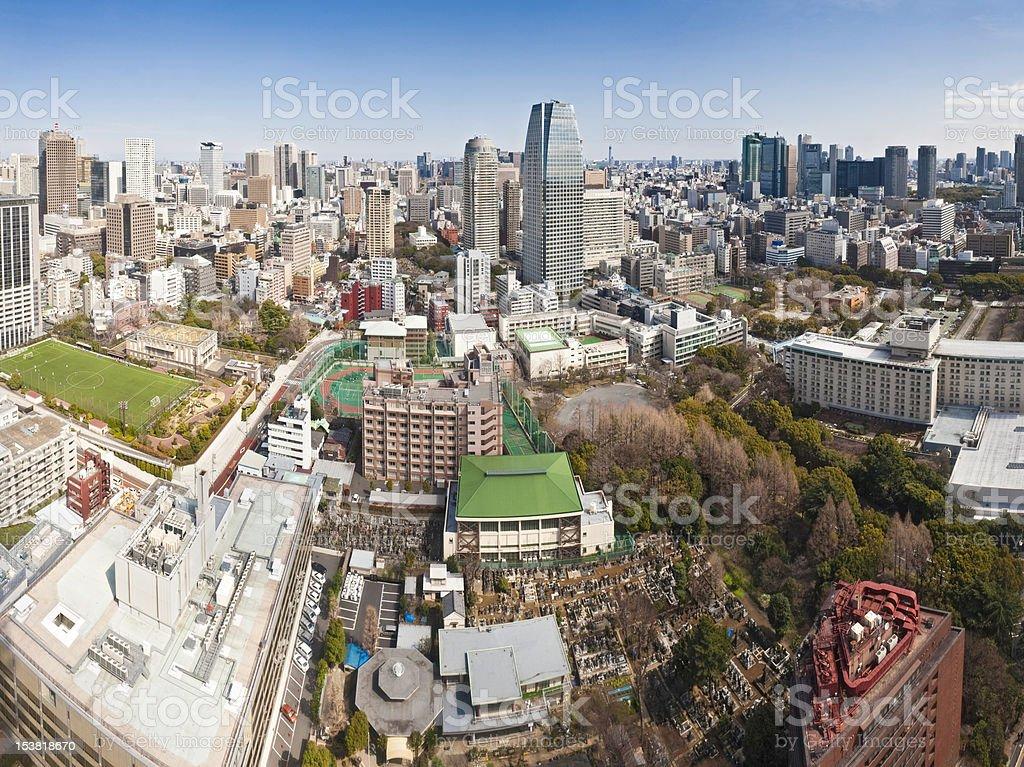 Tokyo downtown skyscrapers urban city life Shimbashi Shiodome Ginza Japan stock photo