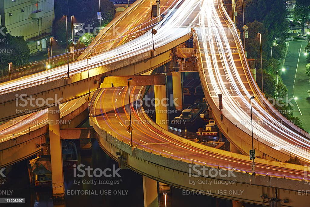 Tokyo Expressway royalty-free stock photo