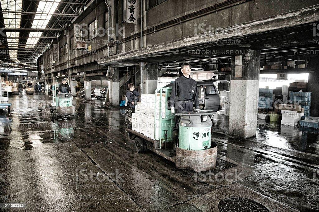 Tokyo fish-market stock photo