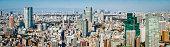 Tokyo futuristic cityscape aerial panorama skyscrapers highrises Roppongi Hill Japan