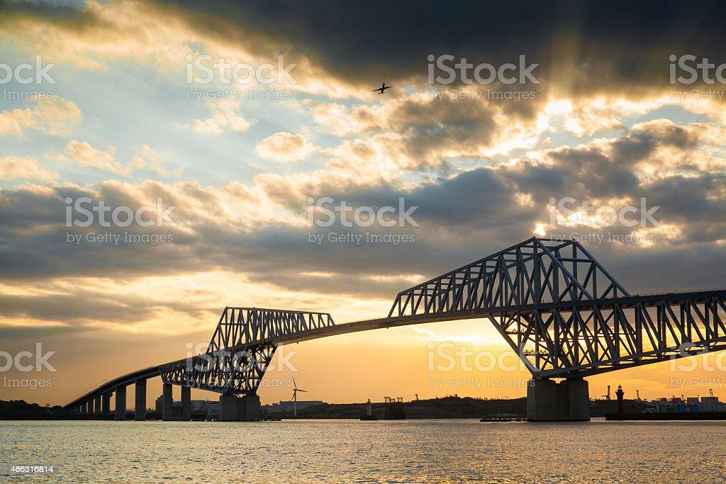 tokyo gate bridge stock photo