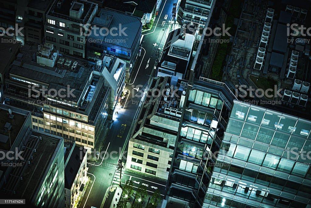 Tokyo Hamamatsucho district by night stock photo