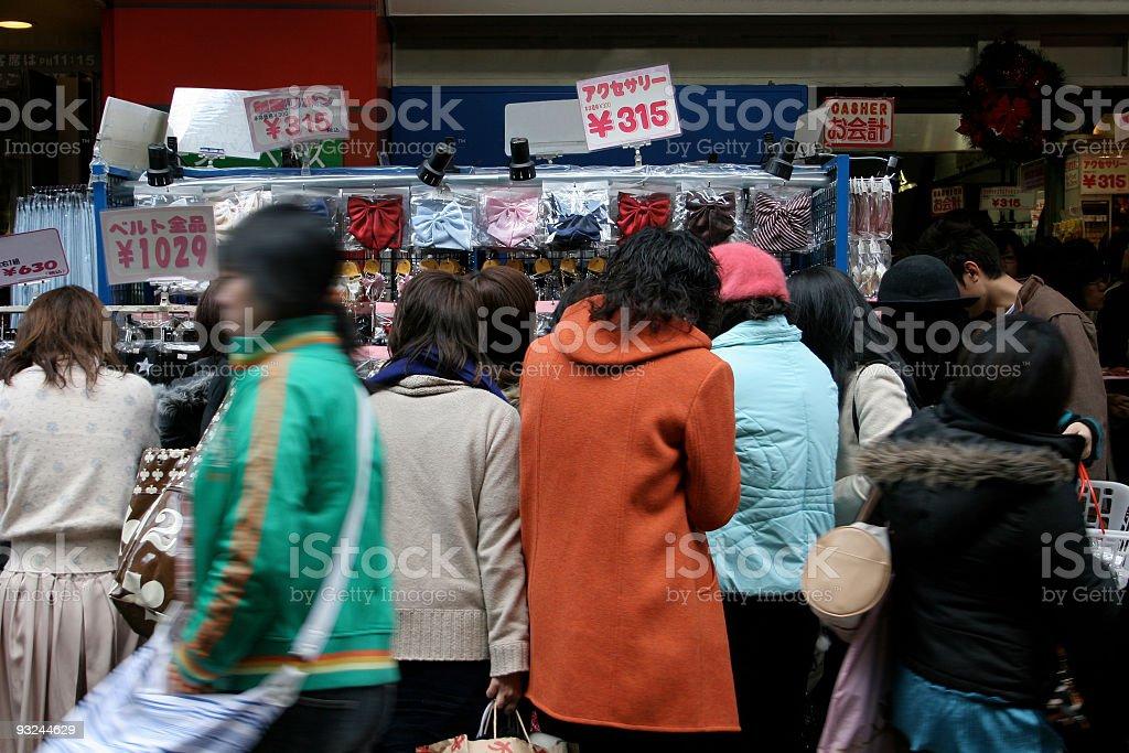 Tokyo Harajuku shoppers royalty-free stock photo