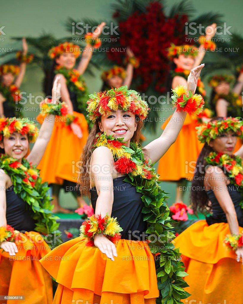 Tokyo Hula Festa 2015 in Ikebukuro stock photo