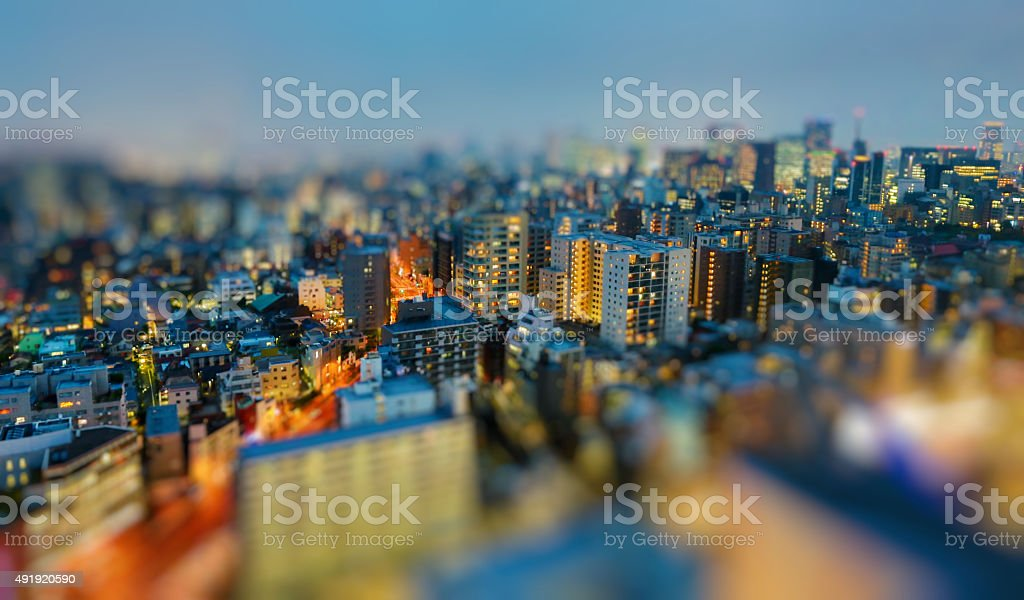 Tokyo In The Night stock photo