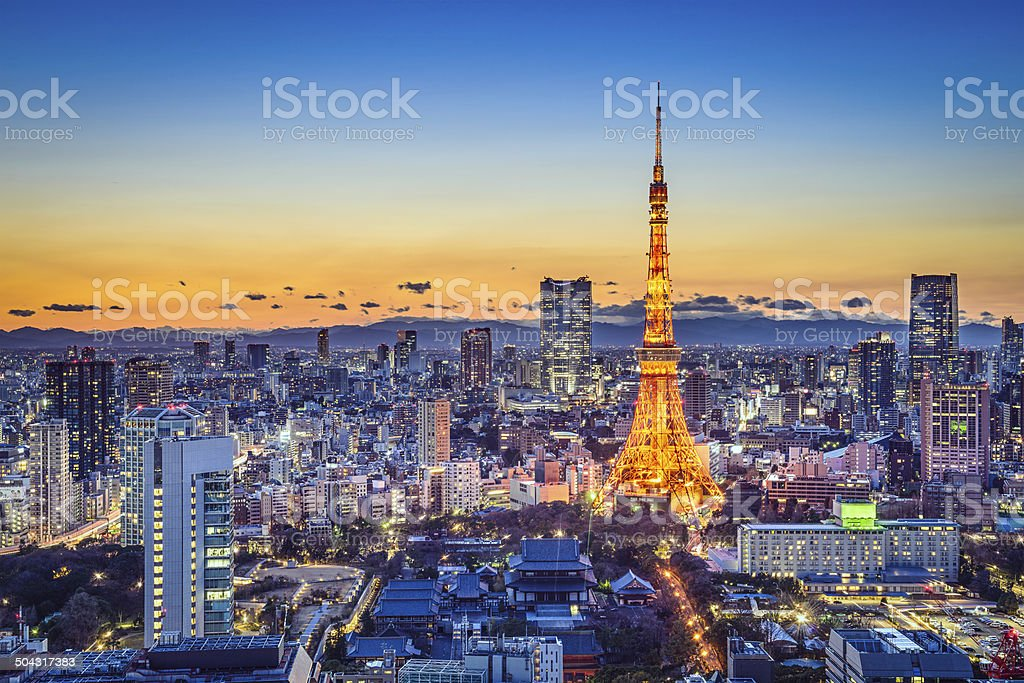 Tokyo Japan City Skyline stock photo