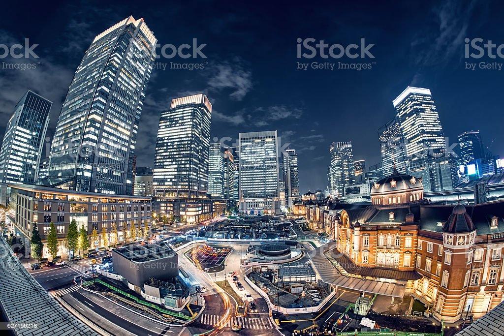 Tokyo, Japan Cityscape at Tokyo Station stock photo