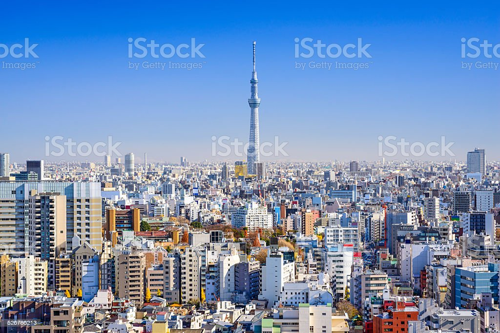 Tokyo, Japan Cityscape View stock photo