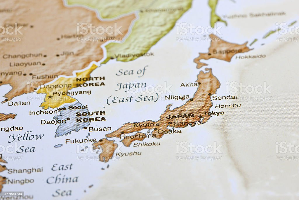 Tokyo Japan Map royalty-free stock photo