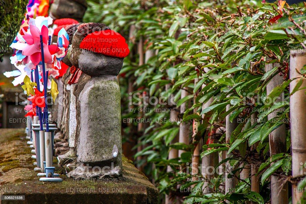 Tokyo, Japan - March 04, 2015 - Jizo in Zojoji Temple stock photo