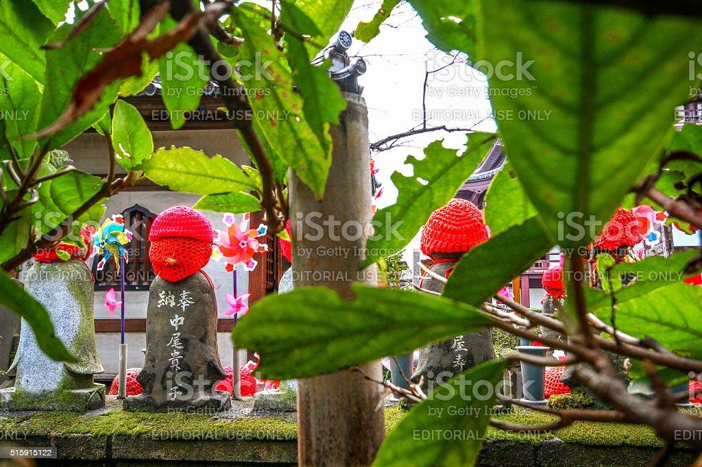 Tokyo, Japan - March 04, 2015 - Jizo statue stock photo