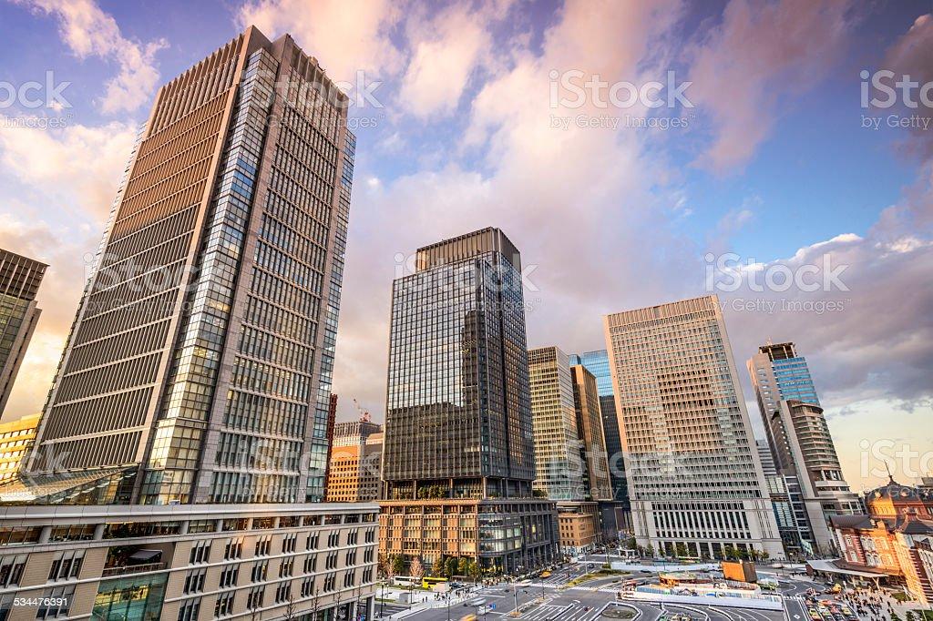 Tokyo Japan Office Buildings stock photo