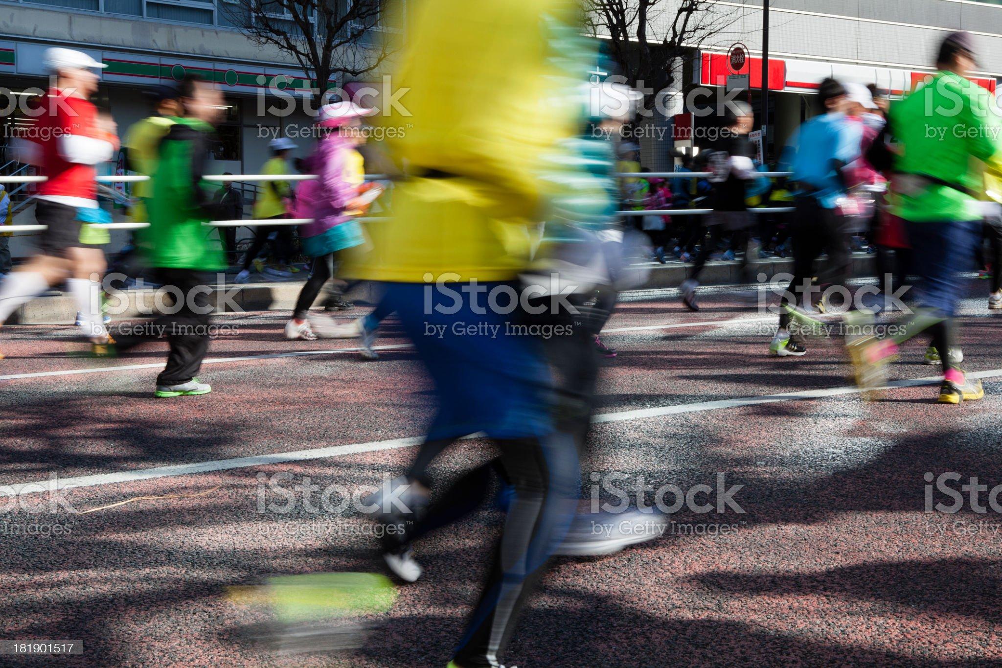 Tokyo marathon royalty-free stock photo