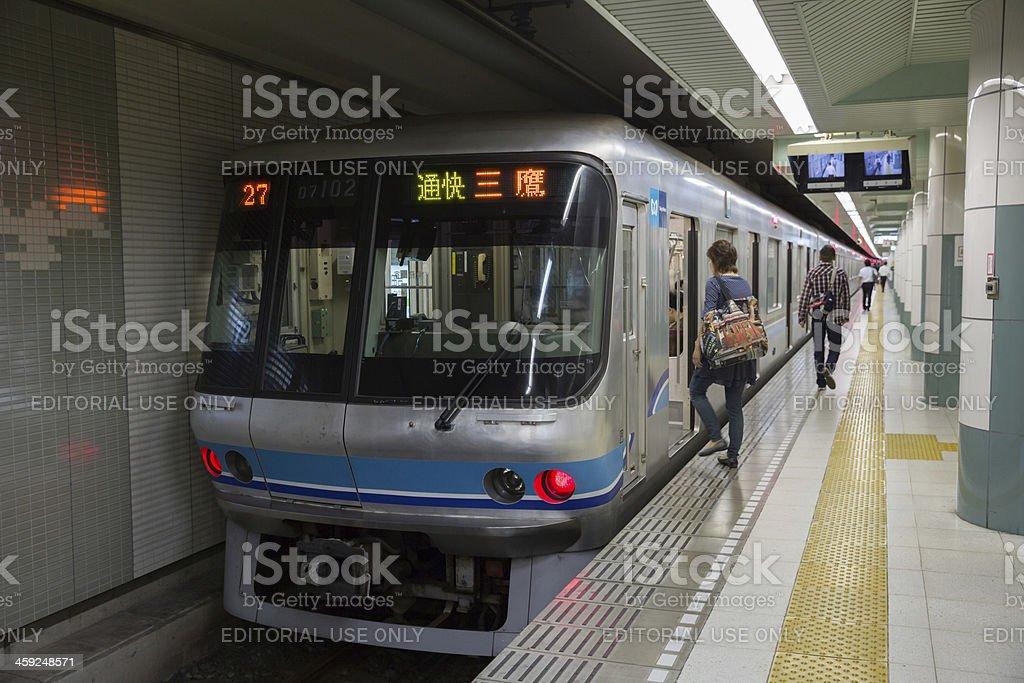Tokyo Metro Train in Japan royalty-free stock photo