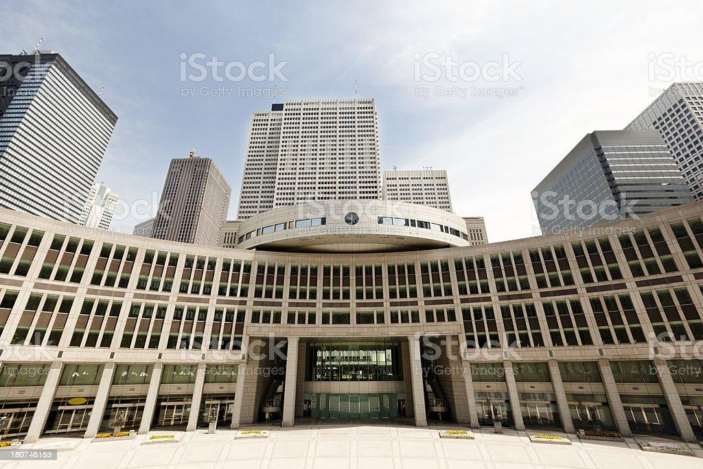 tokyo metropolitan complex royalty-free stock photo