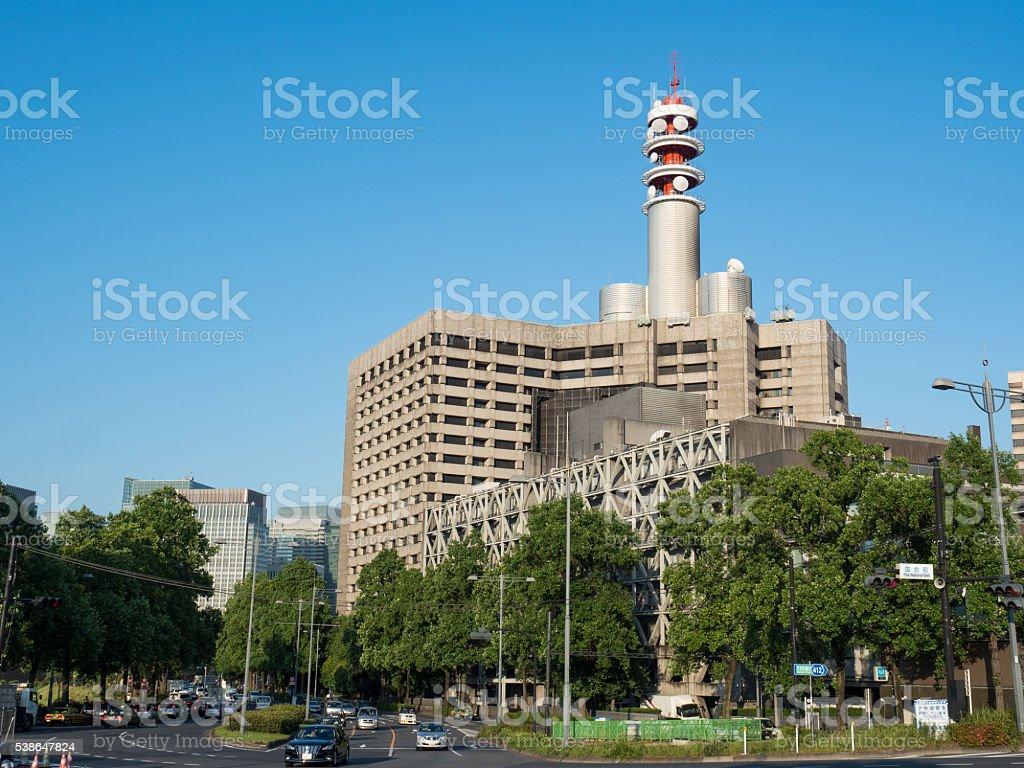 Tokyo Metropolitan Police Department main government building stock photo