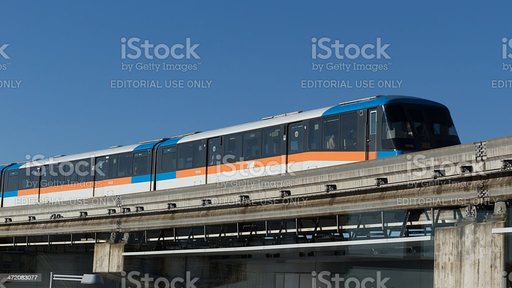 Tokyo Monorail Train in Japan stock photo