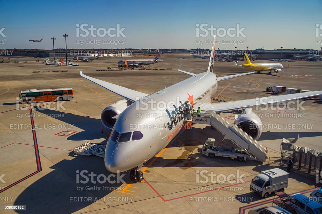 Tokyo Narita Airport Terminal 3 stock photo