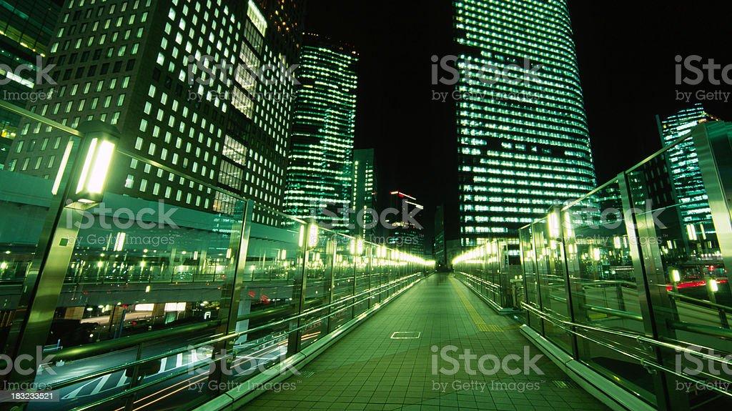 Tokyo Night Path stock photo