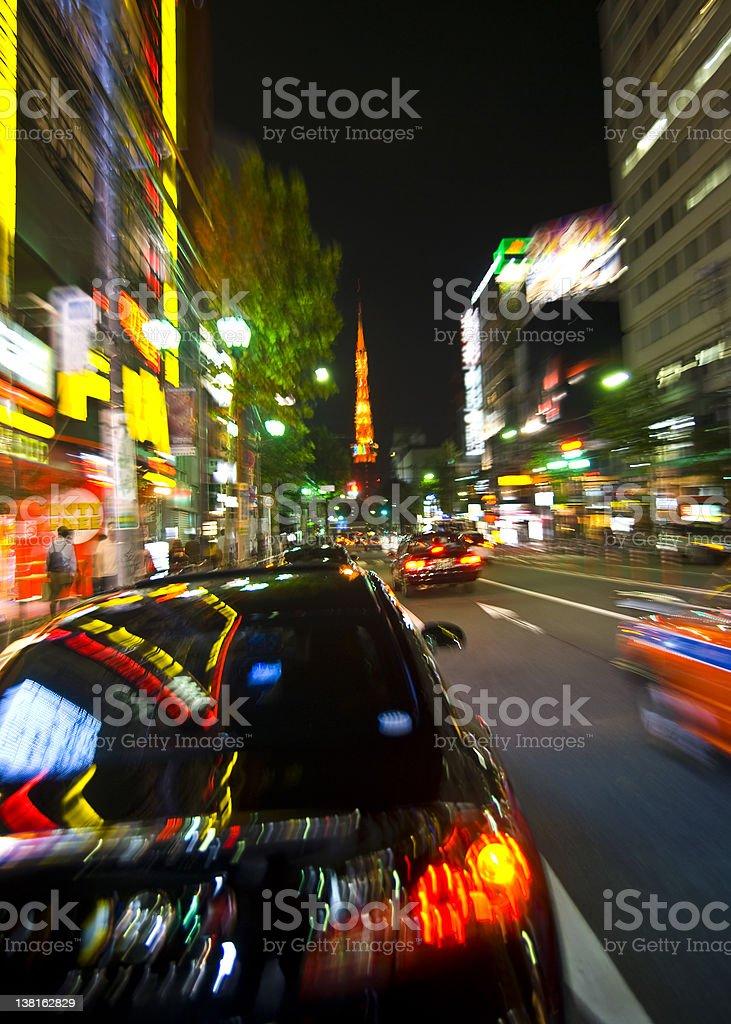 Tokyo Night royalty-free stock photo