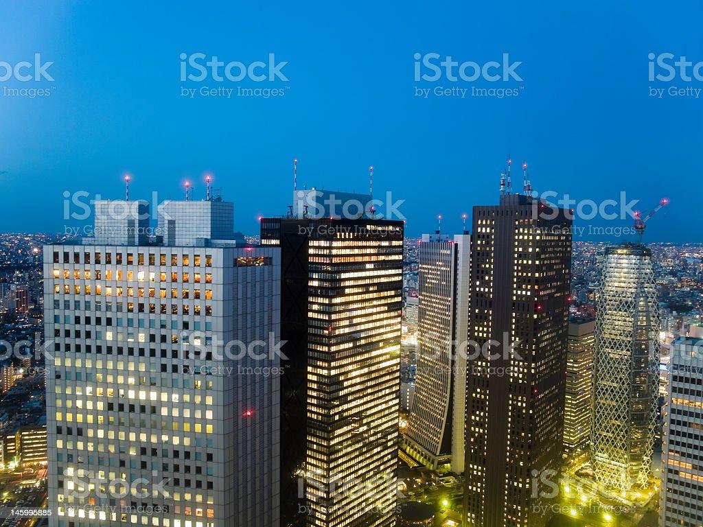 Tokyo night scene royalty-free stock photo