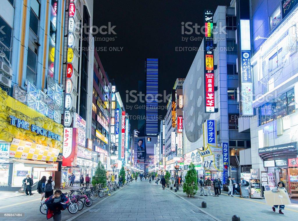 Tokyo nightlife stock photo