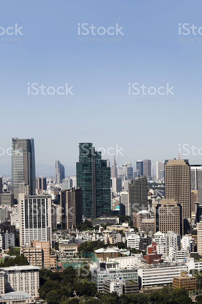 Tokyo Office Building stock photo