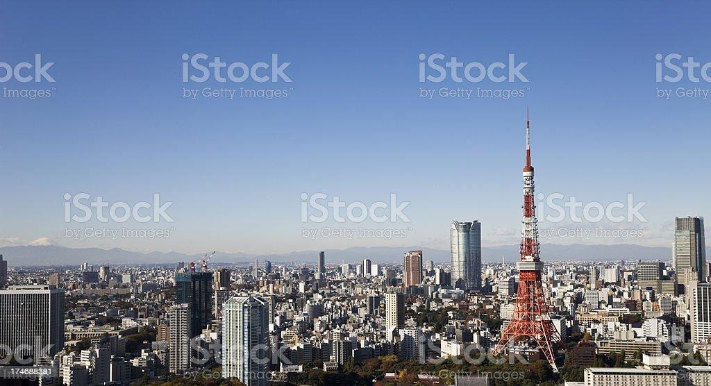 Tokyo Panorama stock photo
