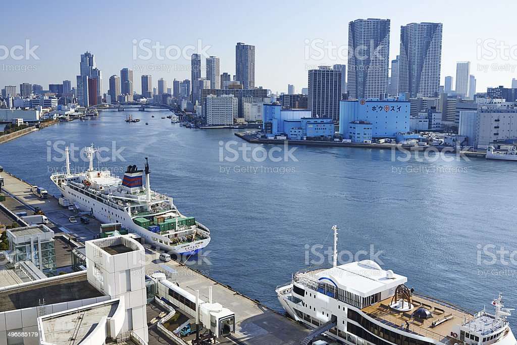 Tokyo Port stock photo
