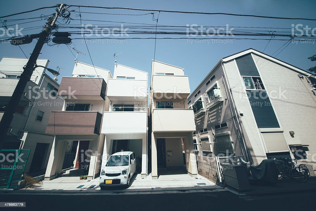 Tokyo residential district stock photo