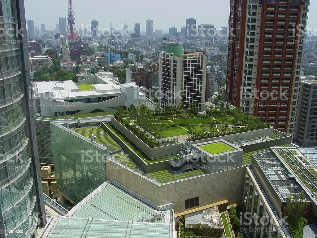 Tokyo Roof Park stock photo
