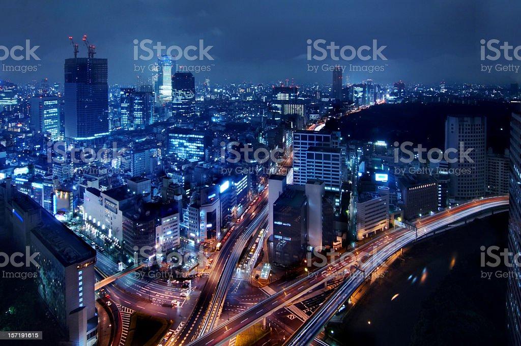 tokyo rush hour stock photo