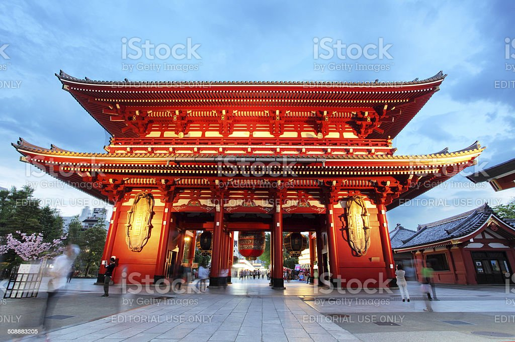 Tokyo - Senso-ji Temple Pagoda Asakusa Japan stock photo