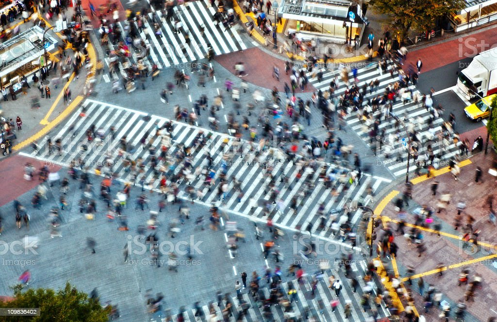 Tokyo Shibuya Crossing stock photo