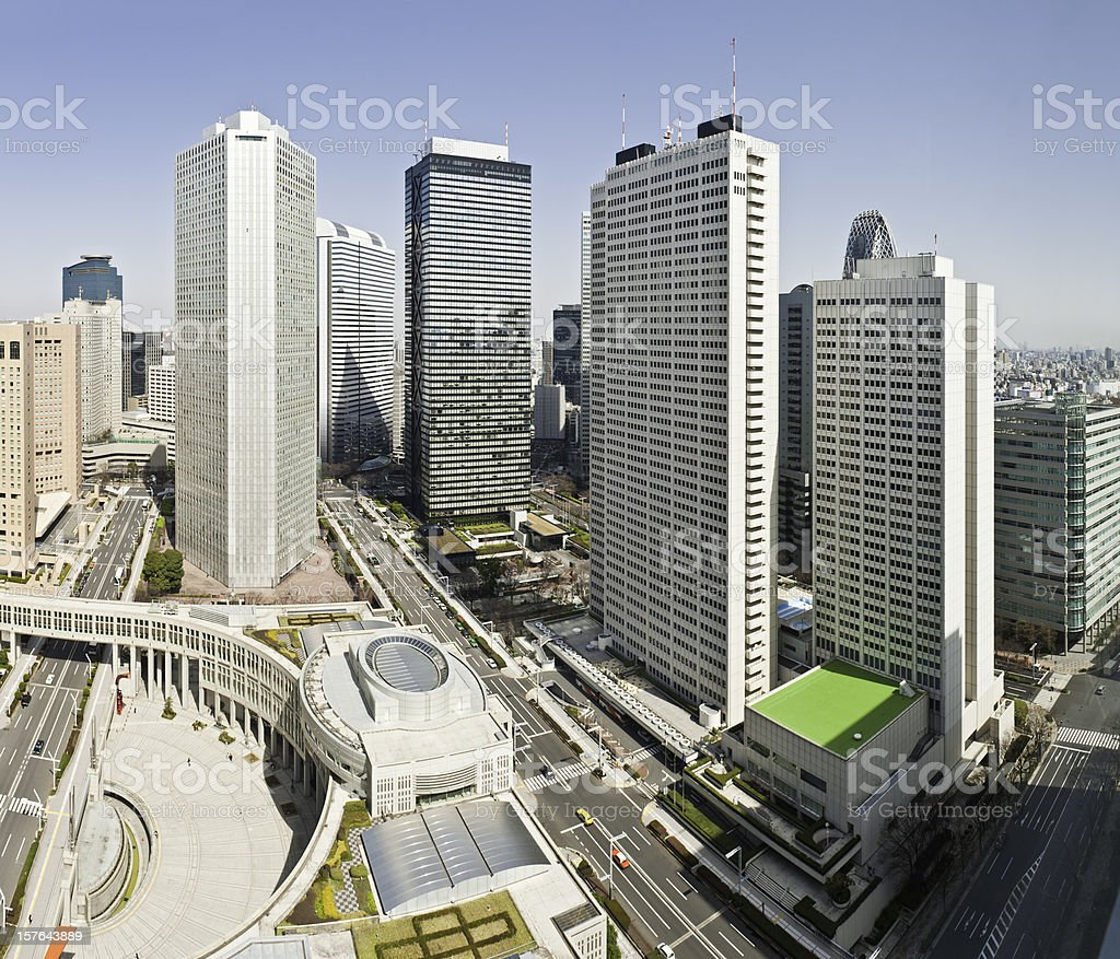 Tokyo Shinjuku skyscrapers business district highrise hotels capital city Japan royalty-free stock photo