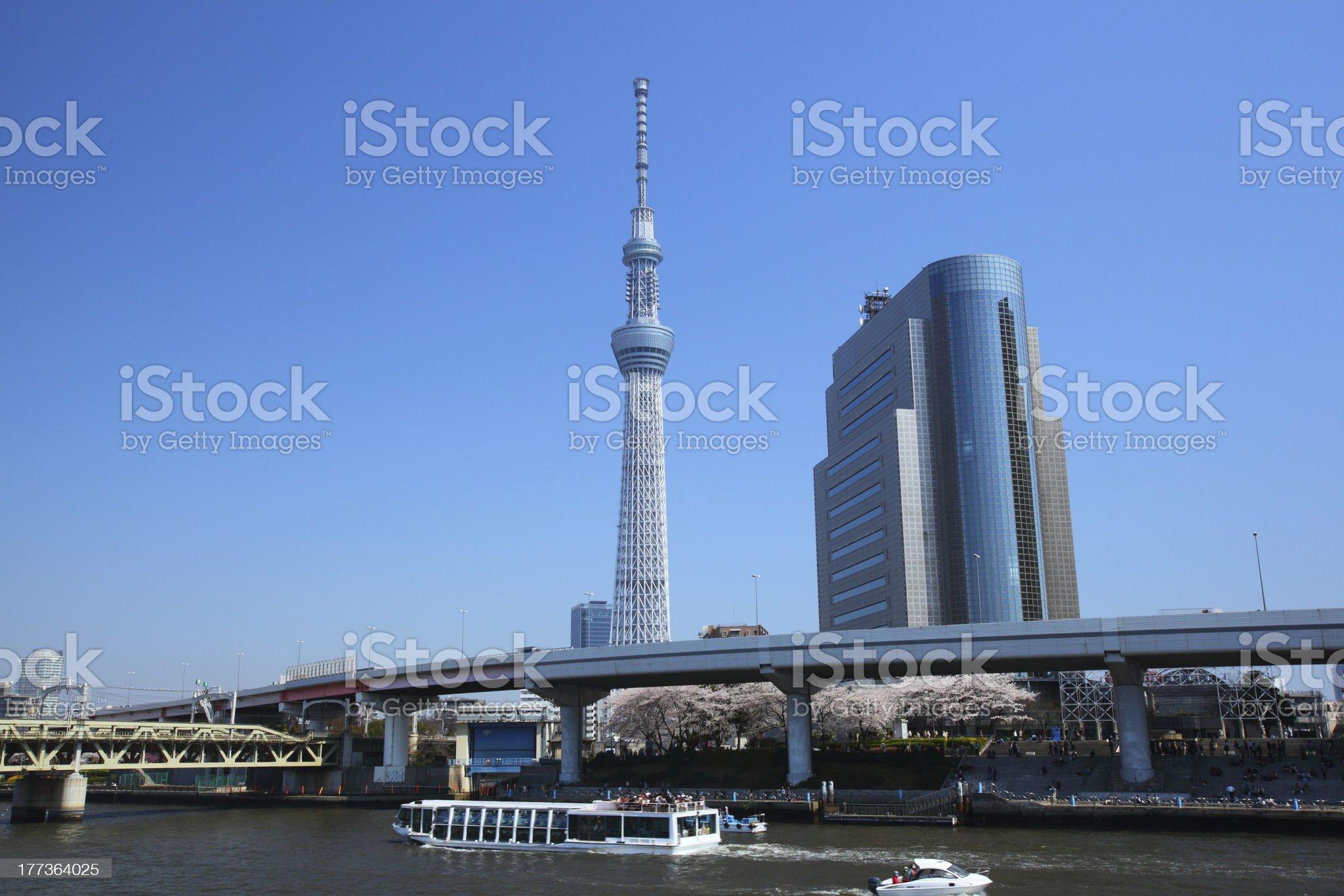 Tokyo sky tree, Japan royalty-free stock photo